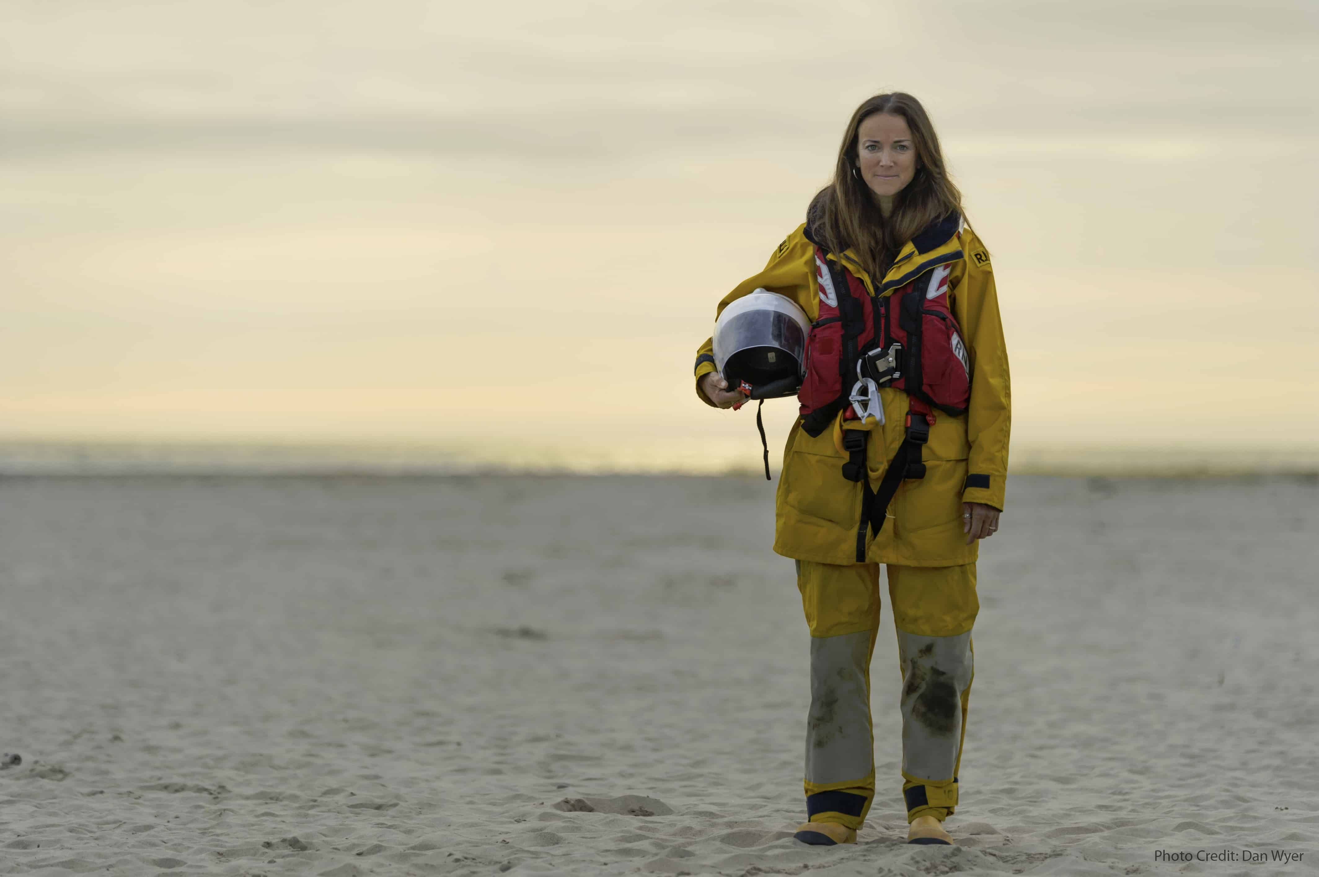 Female RNLI volunteer